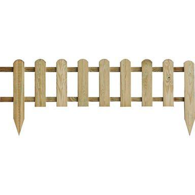 Płotek ogrodowy 114 x 45/28 cm drewniany sztachetowy STELMET