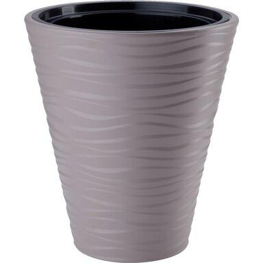 Doniczka plastikowa 30 cm beżowa SAHARA FORM-PLASTIC