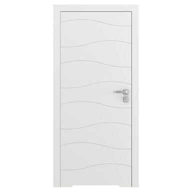 Skrzydło drzwiowe bezprzylgowe z podcięciem wentylacyjnym Vector X Białe 80 Lewe Porta