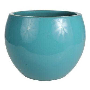 Donica ceramiczna 48 cm turkusowa