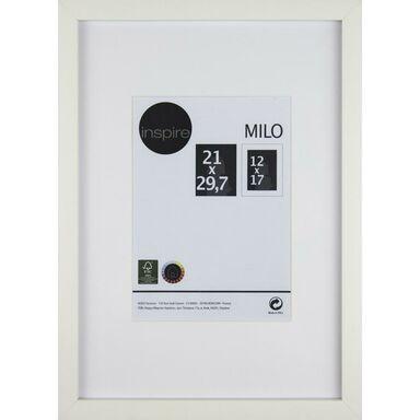 Ramka na zdjęcia MILO 21 x 29.7 cm biała MDF INSPIRE
