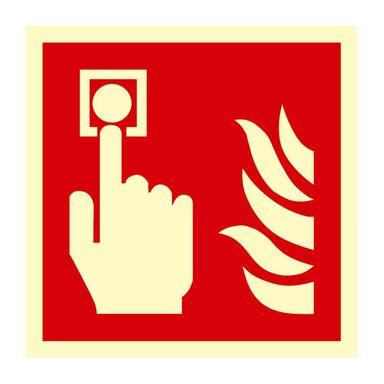 Znak informacyjny URUCHAMIANIE RĘCZNE 15 x 15 cm