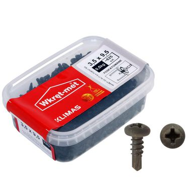 Wkręt TE x  3.5 x 9.5 mm 0.5 kg WKRĘT-MET
