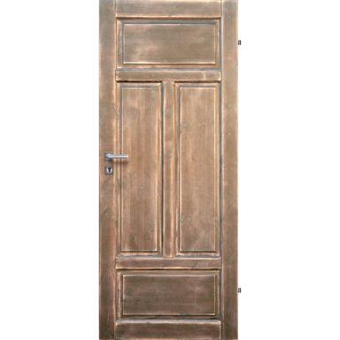 Skrzydło drzwiowe pełne drewniane VERONA Jasny orzech 70 Lewe RADEX