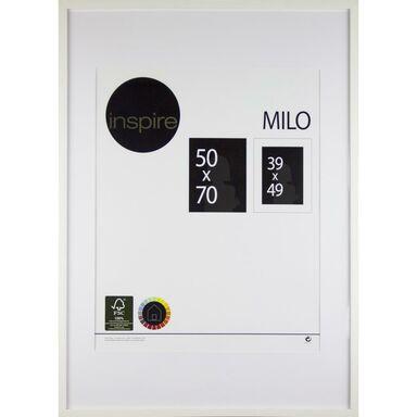 Ramka na zdjęcia MILO 50 x 70 cm biała MDF INSPIRE
