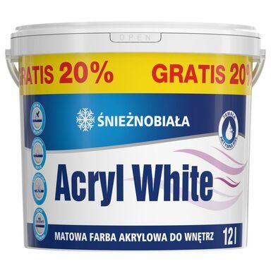 Farba wewnętrzna ŚNIEŻNOBIAŁA 12 l ACRYL WHITE