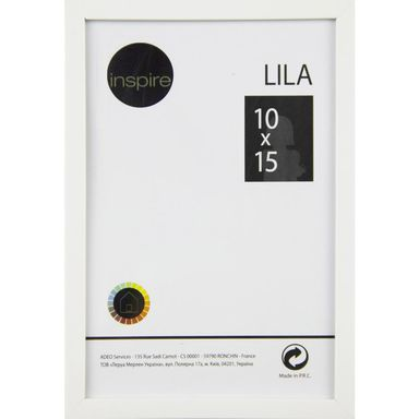 Ramka na zdjęcia Lila 10 x 15 cm biała Inspire