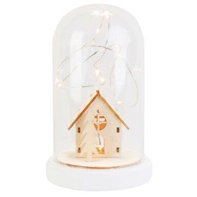 Kościół w szkle 19.5 x 12 cm z oświetleniem LED