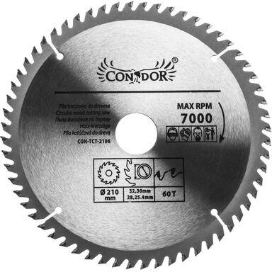 Tarcza do cięcia drewna 210 mm 60T CONDOR