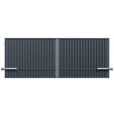 Brama dwuskrzydłowa TOPAZ 400 x 150 cm inteligentna z automatem POLARGOS