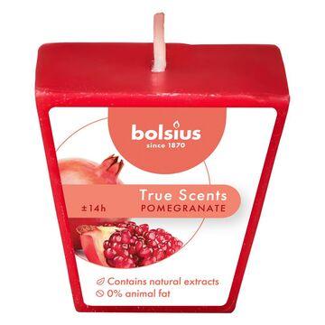 Świeca zapachowa True Scents granat Bolsius