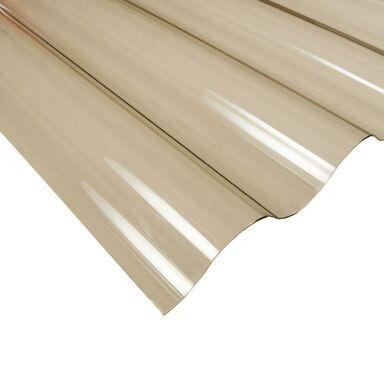Płyta falista PVC Brązowa 200 x 90 cm