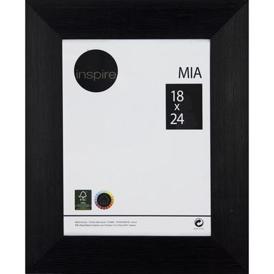 Ramka MIA 18 x 24 cm czarna MDF INSPIRE