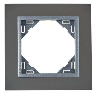 Ramka pojedyncza metalowa LOGUS 90  Nikiel/Grafit  EFAPEL