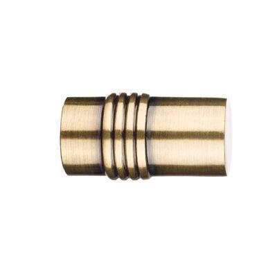 Końcówka do karnisza QUANTUM CYLINDER antyczne złoto 16 mm