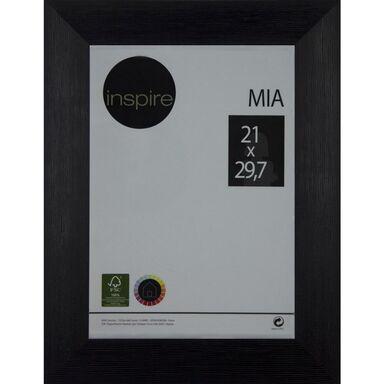 Ramka na zdjęcia Mia 21 x 29.7 cm czarna drewniana Inspire