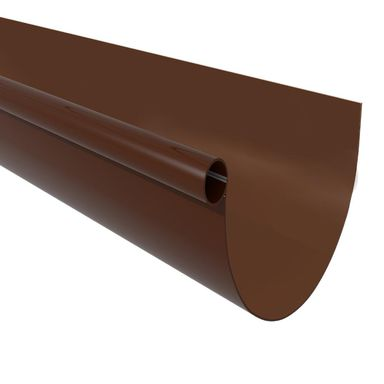 Rynna dachowa ryflowana G80 Brązowa 3 m SCALA PLASTICS