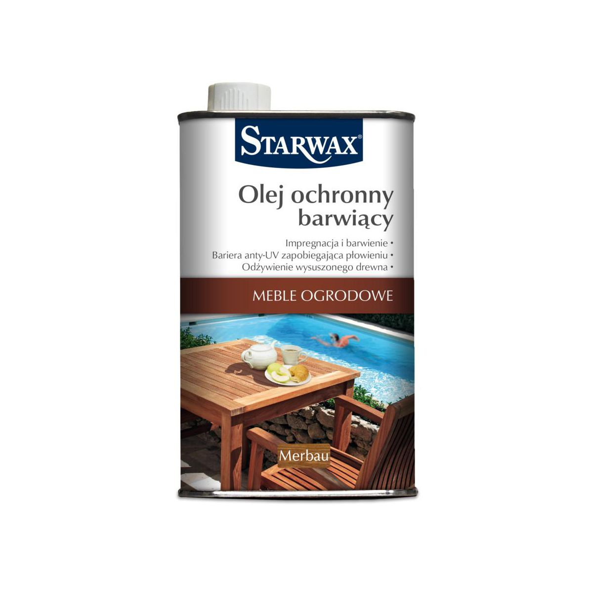 Leroy Merlin Szczecin Meble Ogrodowe : Olej barwiący MEBLE OGRODOWE STARWAX  Oleje do mebli ogrodowych  w