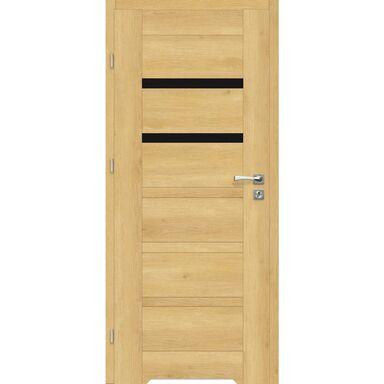 Skrzydło drzwiowe z podcięciem wentylacyjnym Etna Nero Dąb piaskowy 90 Lewe Artens