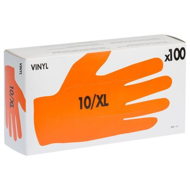 Rękawice winylowe r. 10 /XL 100 szt. DEXTER