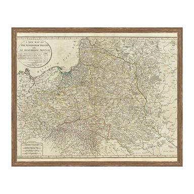 Obraz MAPA POLSKI 53 x 43 cm