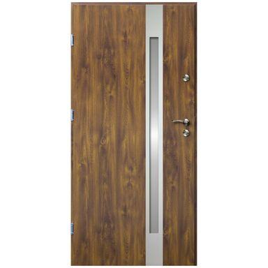 Drzwi wejściowe VERTE II Złoty dąb 80 Lewe OK DOORS TRENDLINE