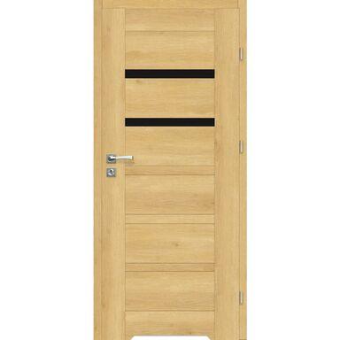 Skrzydło drzwiowe z podcięciem wentylacyjnym Etna Nero Dąb piaskowy 90 Prawe Artens