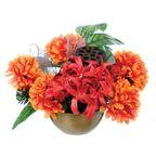 Kompozycja sztucznych kwiatów