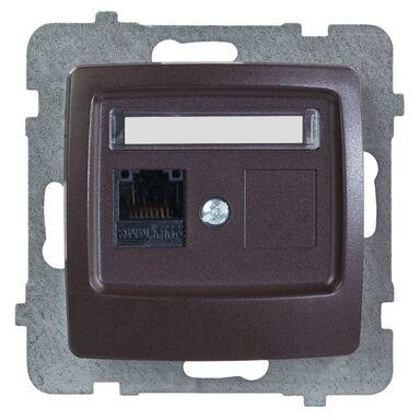 Gniazdo komputerowe pojedyncze KARO  czekoladowy metalik  OSPEL