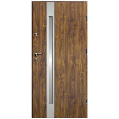 Drzwi wejściowe VERTE II Złoty dąb 80 Prawe OK DOORS TRENDLINE