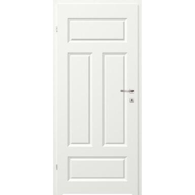 Skrzydło drzwiowe łazienkowe pełne z podcięciem wentylacyjnym Morano I Białe 70 Lewe Classen