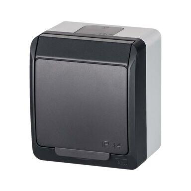 Gniazdo pojedyncze IP44  Szary/antracytowy  ELEKTRO-PLAST