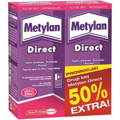 Klej do tapet flizelinowych Metylan Direct 2 opak. po 200 g Henkel