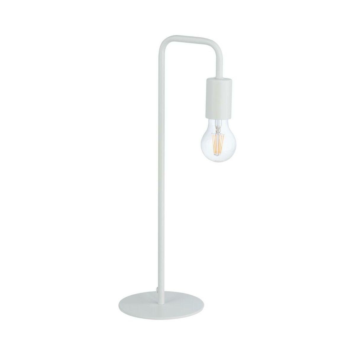 Lampa Stolowa Lana 60w E27 Biala Inspire Lampy Stolowe W