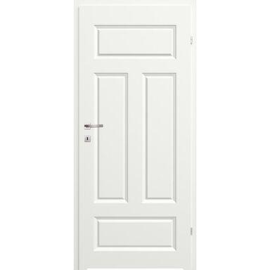 Skrzydło drzwiowe łazienkowe pełne z podcięciem wentylacyjnym Morano I Białe 90 Prawe Classen