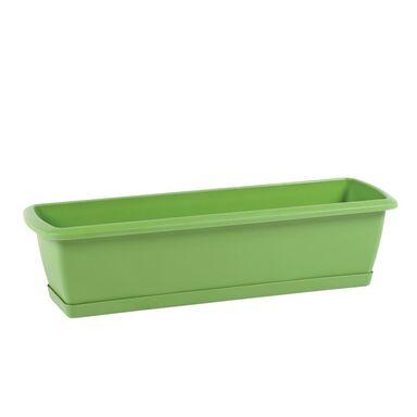Skrzynka Balkonowa 59 X 185 Cm Plastikowa Zielona Z Podstawką Ise600p Prosperplast