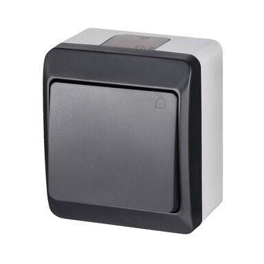 Przycisk dzwonek IP44  Szary/antracytowy  ELEKTRO-PLAST
