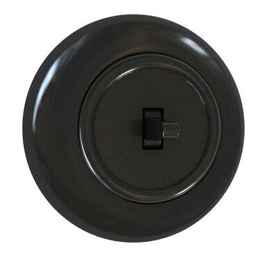 Włącznik pojedynczy LF0011B czarny DPM