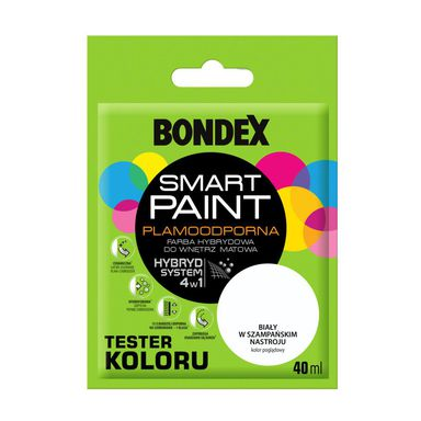 Tester farby SMART PAINT 40 ml Biały w szampańskim nastroju BONDEX