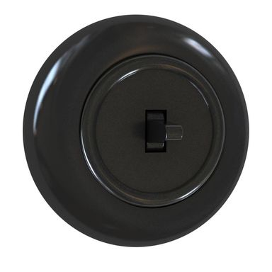 Włącznik pojedynczy SCHODOWY LF0012B LOFT czarny DPM