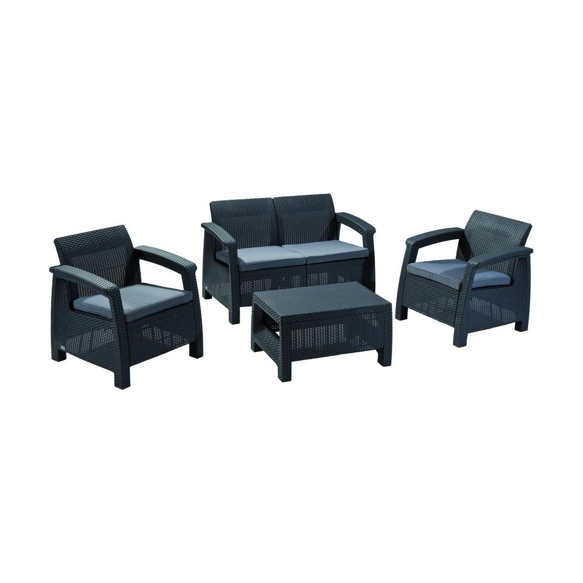 Zestaw mebli ogrodowych corfu curver serie mebli - Sofa exterior leroy merlin ...