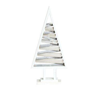 Choinka drewniana 40 cm biała