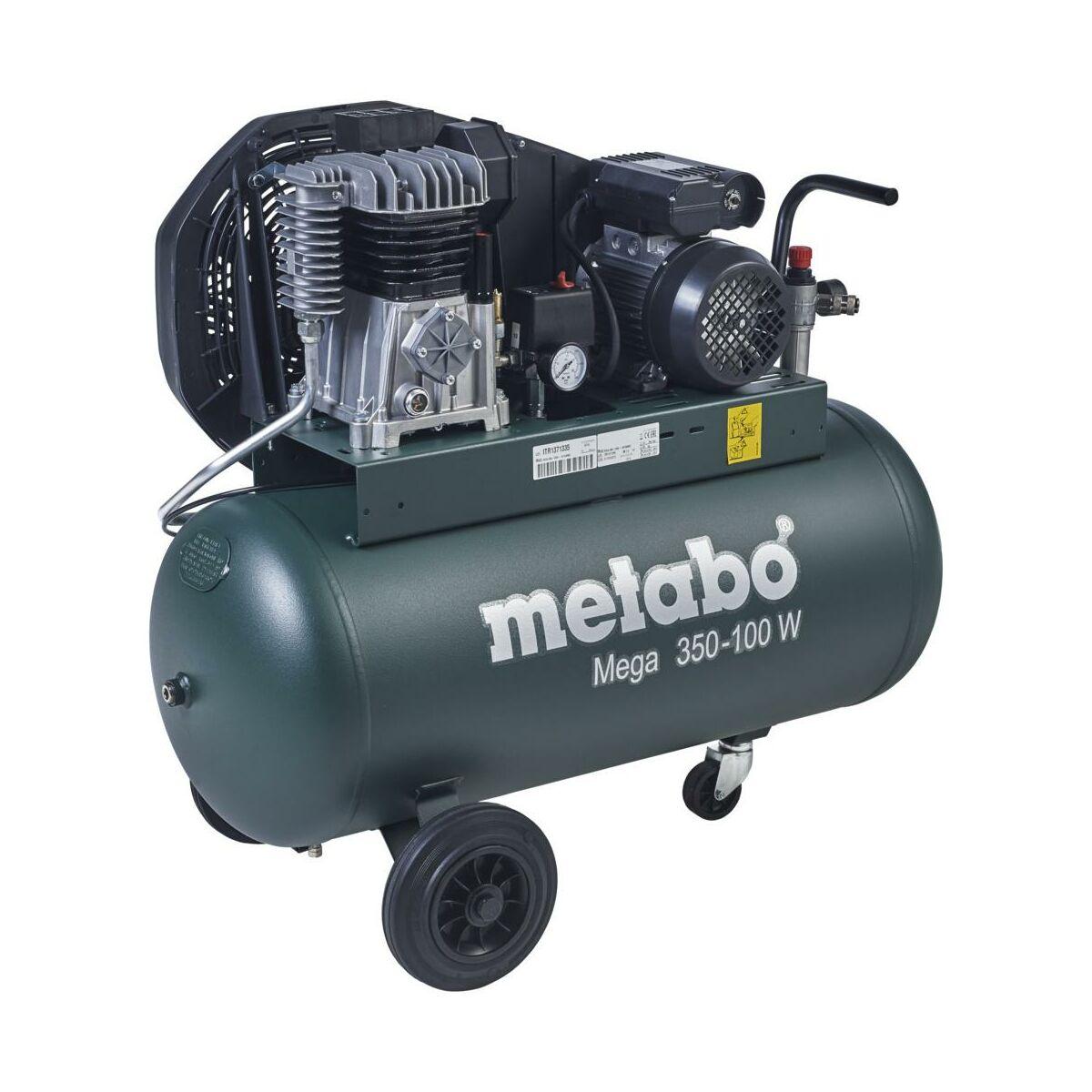 Kompresor Olejowy Metabo 90 L 10 Bar Mega 350 100 W Kompresory W Atrakcyjnej Cenie W Sklepach Leroy Merlin