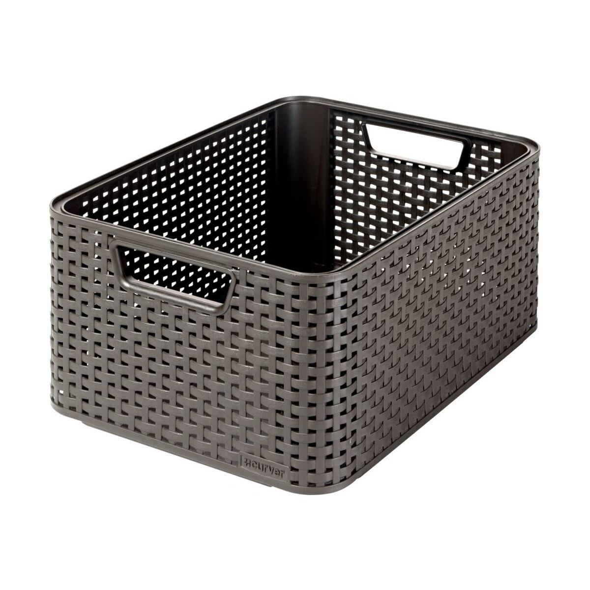 Koszyk rattan style curver pud a koszyki pojemniki w atrakcyjnej cenie w sklepach leroy - Divano rattan leroy merlin ...