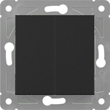 Włącznik schodowy podwójny EDG1006W  czarny  LEXMAN
