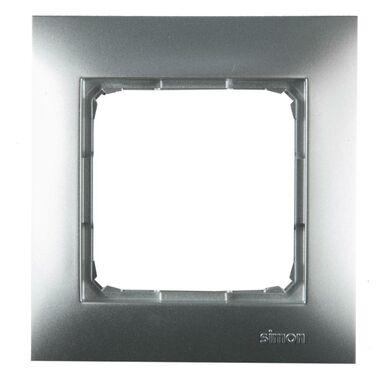 Ramka pojedyncza SIMON 54  srebrny  KONTAKT SIMON