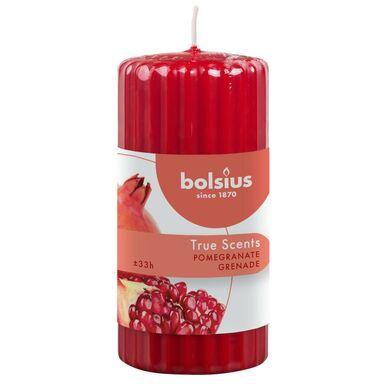 Świeca pieńkowa zapachowa True Scents granat Bolsius