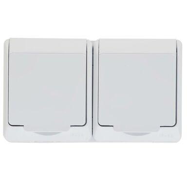 Gniazdo podwójne 2 x 2P + Z HERMES  biały  ELEKTRO - PLAST