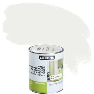Emalia OLEJNO-ALKIDOWA 0,75 l Cream 3 LUXENS