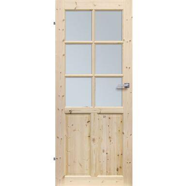 Skrzydło drzwiowe pokojowe drewniane LONDYN LUX 90 Lewe RADEX